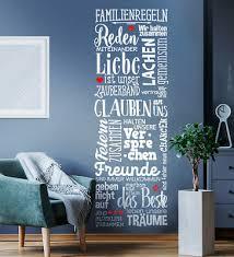 familienregeln wandtattoo familien regeln wohnzimmer wand