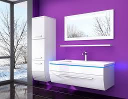 5 teilig badmöbel set 60 weiss led hochglanz badezimmermöbel weißled system