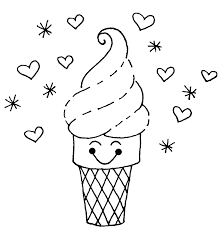 New Ice Cream Coloring Page 60 With Additional Print