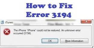 Fix iTunes Error 3194 while Restoring or Updating iPhone iPad