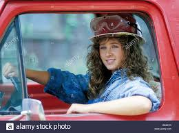 100 Is Truck Driving Hard Female Construction Worker In Hardhat Driving Truck Stock Photo
