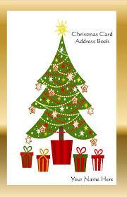 Christmas Tree Names by Amazon Com Christmas Card Address Book List Organizer With A Z