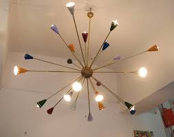 Mid Century Italian Sputnik Chandelier 1950s for sale at Pamono
