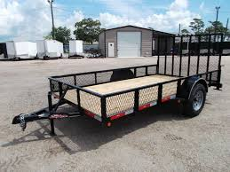 2018 Longhorn Trailers 77x12 Single Axle Utility Trailer Landscape W 15 Expanded