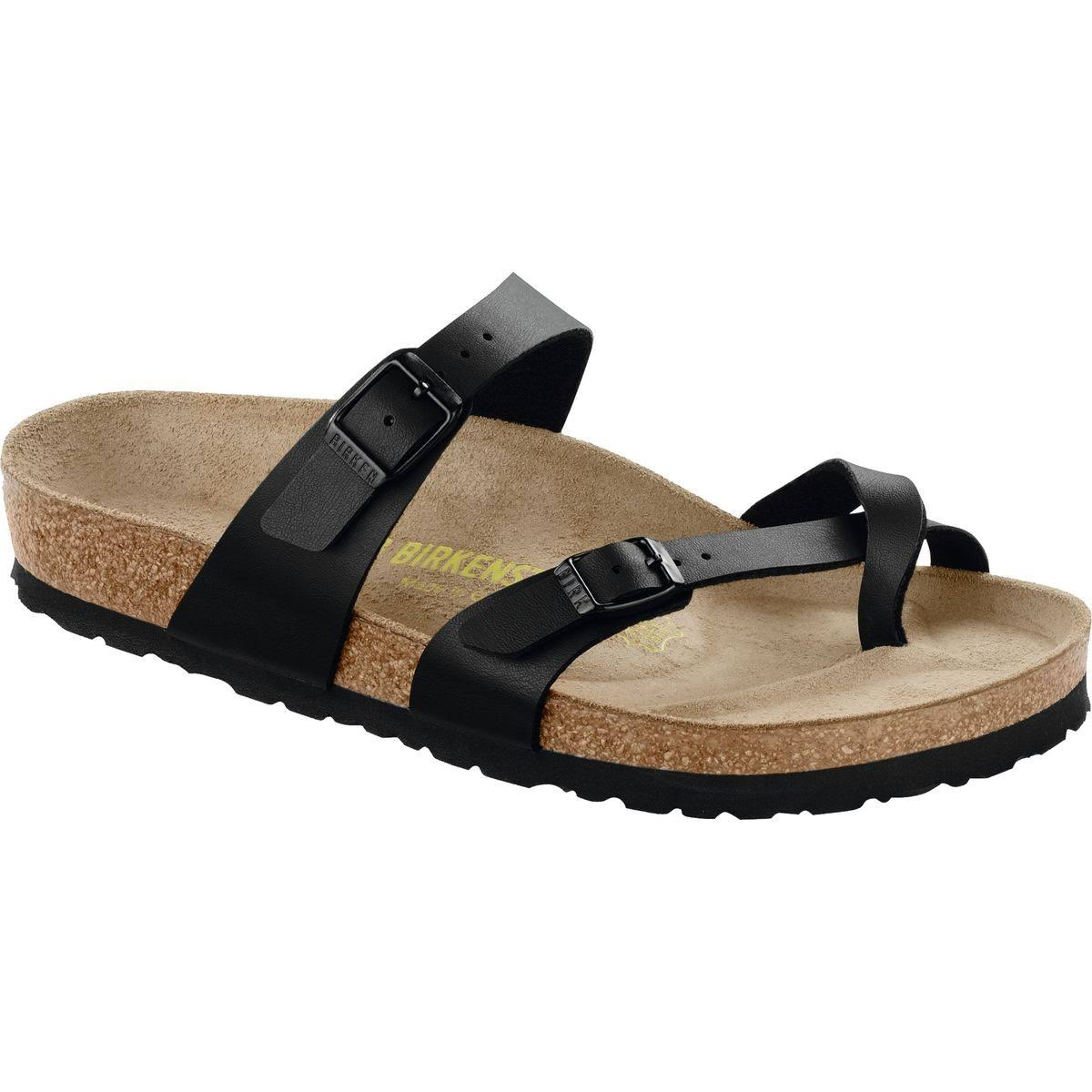 Birkenstock Women's Mayari Leather Comfort Thong Sandals - Black