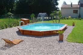 piscine semi enterree bois on decoration d interieur moderne