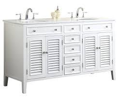 Bathroom Vanities 60 Inches Double Sink by Adelina 60 Inch Antique White Double Sink Bathroom Vanity Marble Top