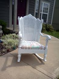 Antique Wingback Cane Back Rocking Chair | Collectors Weekly