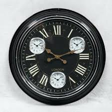 Black Kitchen Wall Clocks Best In Retro 50s Style And White