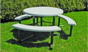 swing out round picnic table barco products