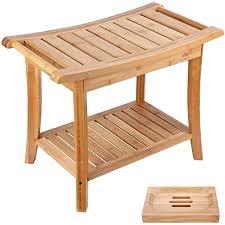 de relaxdays badezimmer bank bambus sitzbank bad