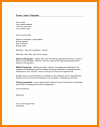 7 cover letter to unknown