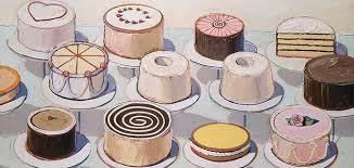 He s best known for his bright paintings of pastries and cakes but they represent only a slice of the American master s work