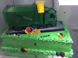 98 Garbage Truck Party Supplies Birthday Cake Sweet Tasty Bakery