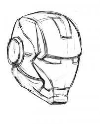 Draw Ironman Mask 01