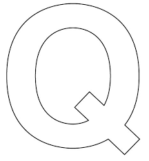 Letter Q Template Free Coloring Pages Of