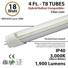 4 ft led hybrid ballast compatible 5000k replace fluorescent