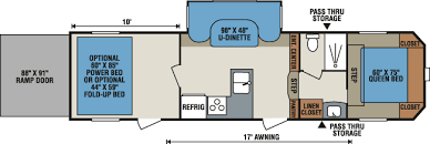 Fifth Wheel Bunkhouse Floor Plans by Fifth Wheel Floorplans The Uncommon Road