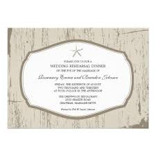 Rustic Starfish Rehearsal Dinner Invitation Country Wedding InvitationsWedding
