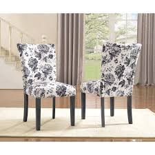 Shop Sally Upholstered Grey Flower Print Dining Chair (Set Of 2 ...