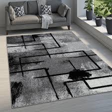teppich esszimmer geometrisch modern farbverlauf
