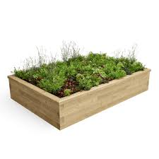 Raised Bed Soil Calculator by Rectangular Raised Bed 2 25 X 1 5 X 0 45m Woodblocx