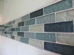 accent bathroom tile blue border up top glass tile bathroom glass