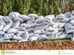 sac de inondation sacs de pour la défense d inondation image stock image