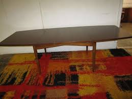 gorgeous american of martinsville walnut dining table mid century
