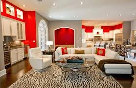 Decorating Red Walls Dining Room Accent For Living And White Interior Designs