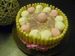 gâteau au chocolat une ganache montée au chocolat blanc et une