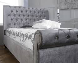 limelight orbit fabric bed frame in silver bed frames beds