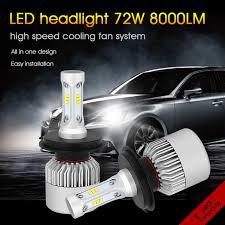 h4 led car headlight bulbs 72w 8000lm h1 h3 h11 h8 h9 h7 9005 9006