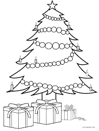 Christmas Tree Coloring Page Print by Christmas Tree With Presents Coloring Pages Christmas Coloring Pages