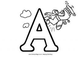 Letter A Colouring Pages