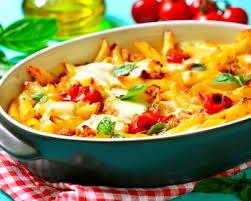 recette gratin de pâtes facile aux tomates rapide