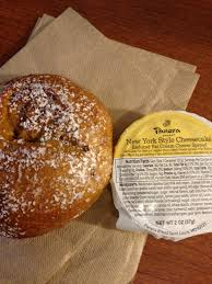 Panera Pumpkin Muffin Ingredients by Pumpkin Pie Bagel And Reduced Fat Ny Style Cheesecake Cream Cheese