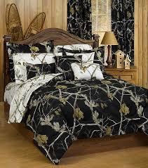 ap black and white camo twin size comforter sham set