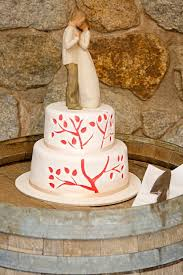 Growing Tree Rustic Wedding Cake