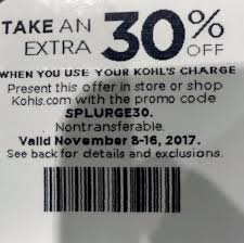 Starts Nov 8th -16th If Anyone Has... - 30% Off Kohls Coupon ...