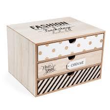 boite a tiroirs en bois boîte 3 tiroirs en bois h 17 cm blackstage diy projects to try