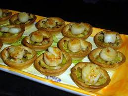 cuisiner des noix de st jacques recette de mini tartelettes fondue de poireaux noix de st
