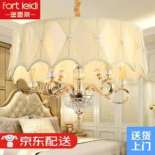 Fort Reti European Crystal Chandelier Living Room Lighting Atmosphere Modern Minimalist Dining Bedroom Villa With Cover
