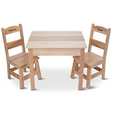 Children's Table And Personalized Chairs - Hammacher Schlemmer