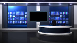 Front View Anchor Desk Stock Video Footage
