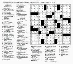 the new york times crossword in gothic march 2014