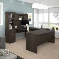 Bestar U Shaped Desks by Evolve U Shape Workstation Brown