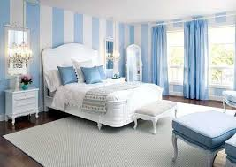 White Blue Stripes Walls Curtains Cushions Grey Bedroom Decorating Ideas Interior Design Inspiration Beautiful Bed Black Cozy Dark