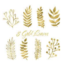 Gold Leaf Clip Art Leaf Clip art Boho Clip by ZoeWithLoveStudio