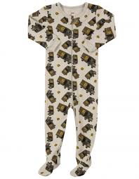 Leveret Baby Boys Striped Cotton Footed Sleeper Pajama (6M-5Y)